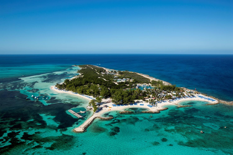 Aerial Coco Cay - Bahamas