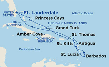 mapa_royal_princess_barbados_južni karibi