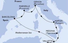 mapa_msc_grandiosa zahodno sredozemlje poletje