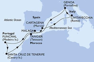 Atlantik Kanarska Ostrva I Madeira Krstarenja